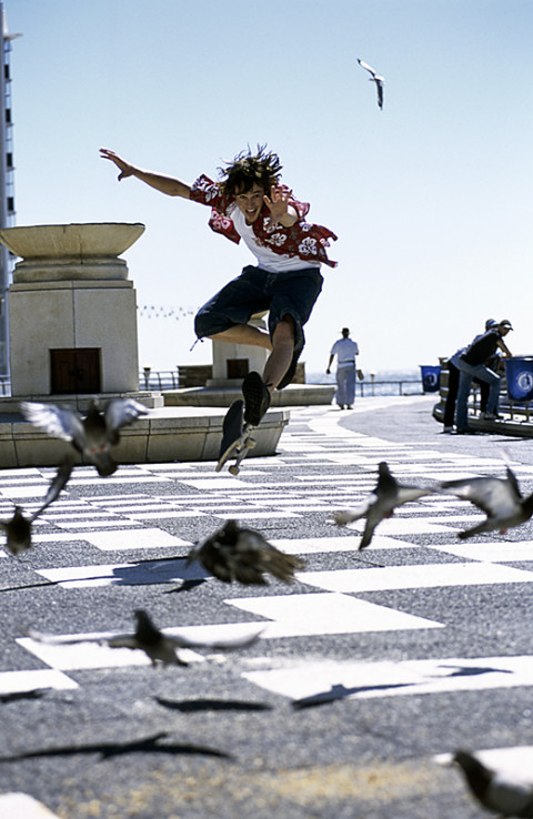 fred bourcier photographe action saut sports jump skate Go Sport