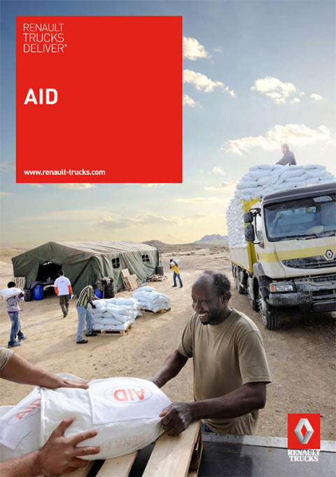 fred bourcier photographe Renault trucks deliver aid