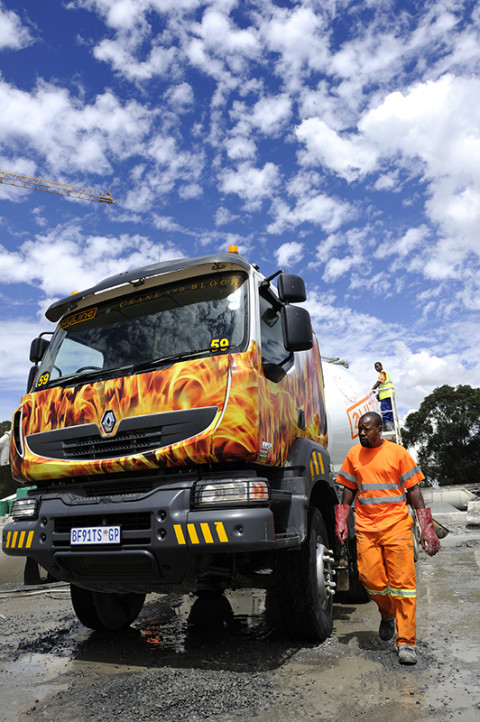 fred bourcier photographe reportage renault trucks camion toupie btp afrique du sud 01