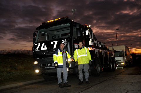 fred bourcier photographe reportage Renault trucks depanneuse camions 01