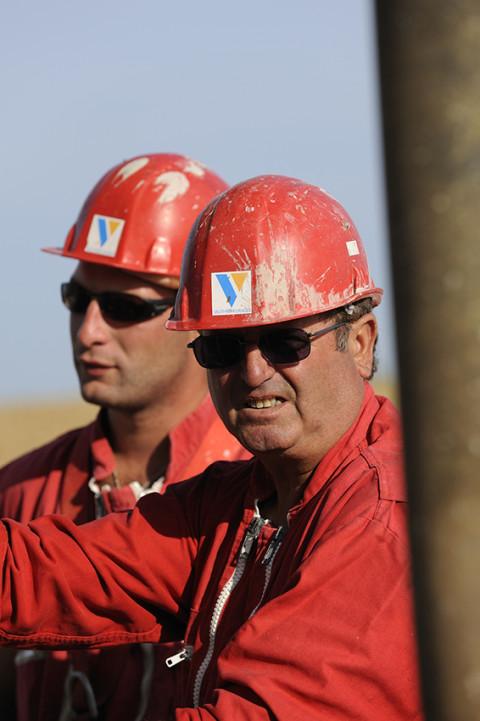 reportage portraits ouvriers forage site pétrole photo fred bourcier