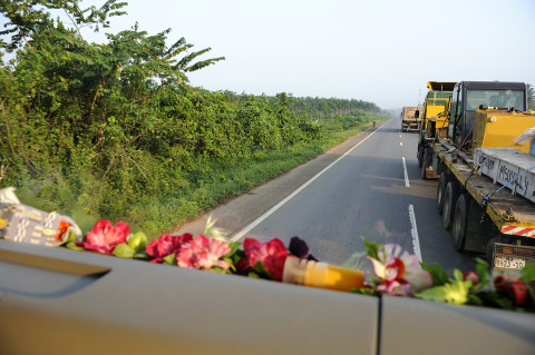 fred bourcier photographe reportage renault trucks ghana transport cacao 06