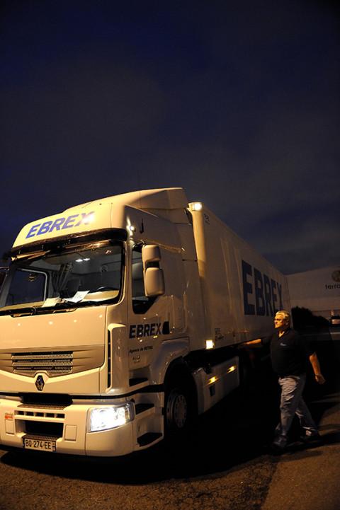 eportage photo fred bourcier au marché de Rungis pour Renault trucks