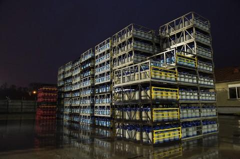 reportage complexe industriel primagaz stockage bouteilles de gaz photo fred bourcier