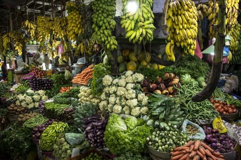 reportage photo Sri Lanka marché couvert fruits et légumes par fred bourcier
