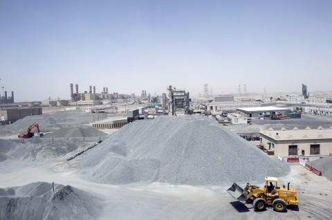 Reportage photographique par fred bourcier entreprise BTP au Qatar
