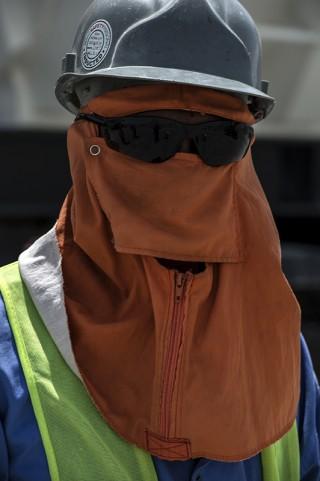 Photo portrait reportage Qatar entreprise BTP par fred bourcier